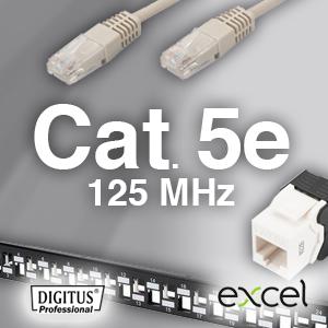 Cat. 5e system   -  125MHz   -  uskærmet              . - 25 års garanti