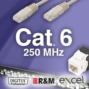 Cat. 6 system - 250Mhz -  uskærmet og skærmet - 25 års garanti