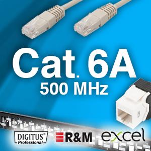 Cat. 6A system - 500MHz -  uskærmet og skærmet - 25 års garanti