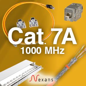 Cat 7A system  - 1000Mhz  -  skærmet. 25 års garanti.