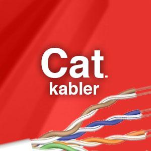 Her kan du se alle vores cat. kabler fra 5e - 6 - 6a - 7 - 7a og cat 8.2