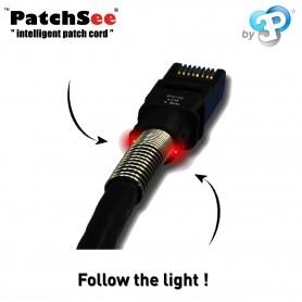 Patchsee patchkabler med indikationslys Cat. 5e og Cat. 6A
