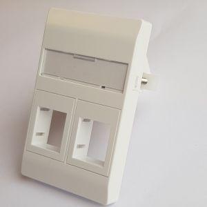 Vægudtag med klør 2xRJ45 hvid. Freenet Cabling