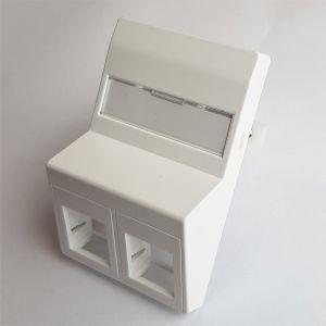 Vægudtag skråtstillet med klør 2xRJ45 hvid. Freenet Cabling