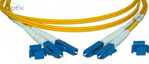OS2 fiber patchkable LC/LC 9/125  1,0 meter