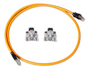 Cat 7A FTP GG45/GG45 patchkabel 25 GIGA 1000Mhz LSOH